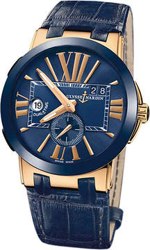 Ulysse Nardin 246-00/43 Executive Dual Time 18ct rose-gold automatic watch