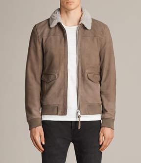 AllSaints Leader Aviator Leather Jacket
