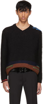 Prada Black Link Knit Sweater