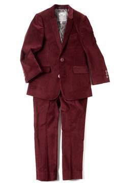Appaman Burgundy Velvet Suit