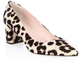 Kate Spade Milan Too Leopard-Print Calf Hair Pumps