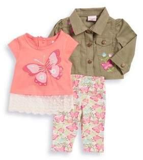 Nannette Baby Girl's Adventure Butterfly Three-Piece Set