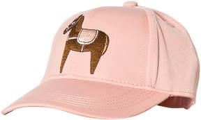 Mini Rodini Pink Horse Embroidered Cap