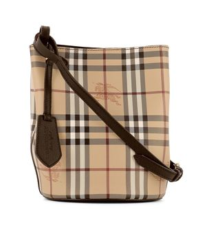 Burberry Black Leather Shoulder Strap - BROWN - STYLE