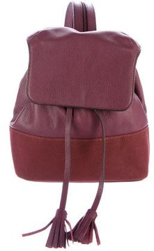 Rebecca Minkoff Leather & Canvas Backpack - BURGUNDY - STYLE