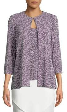 Alex Evenings Three-Quarter Sleeve Printed Twinset