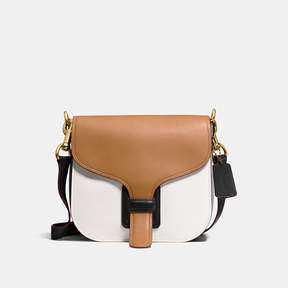 COACH Coach Courier Bag In Colorblock - BRASS/LIGHT SADDLE MULTI - STYLE