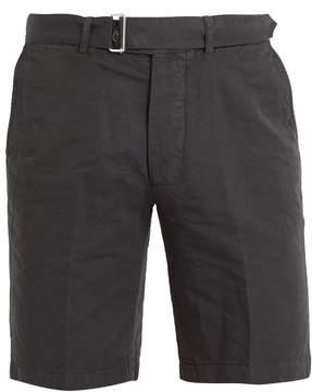 Officine Generale Julian straight-leg cotton-blend shorts