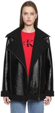 Calvin Klein Jeans Ortensia Shiny Faux Shearling Coat