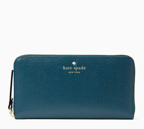 Kate Spade Emerald Forest Grand Street Lacey Leather Wallet
