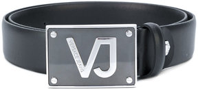Versace Jeans logo plaque belt