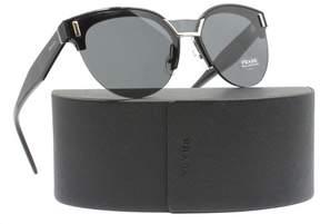 Prada PR 04US 1AB5S0 Black Cat eye Sunglasses