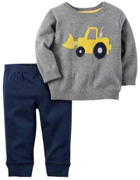 Carter's Baby Clothing Outfit Boys 2-Piece Little Sweater Set Heather