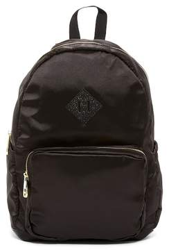 Madden-Girl Satin Backpack with Glitter Decal