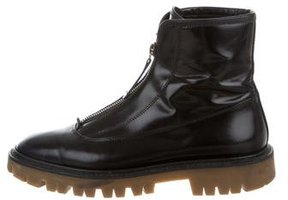 Burberry Prorsum Zip-Up Leather Boots