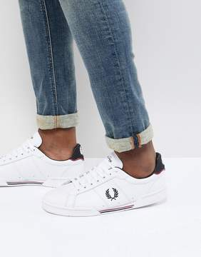 Fred Perry B7222 Leather Suede Sneakers in White