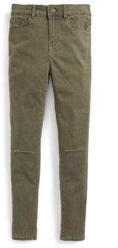 Treasure & Bond Girl's Pigment Wash Skinny Jeans