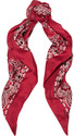 Saint Laurent - Printed Silk-twill Scarf - Red
