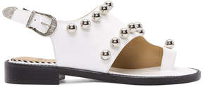 Toga Pulla White Studded Sandals