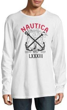 Nautica Printed Cotton Long-Sleeve Tee