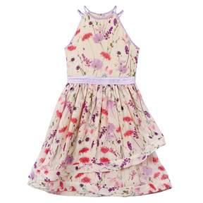 Speechless Girls 7-16 Allover Floral Asymmetrical Dress