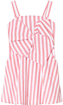 Bardot Junior Red and White Striped Mable Dress