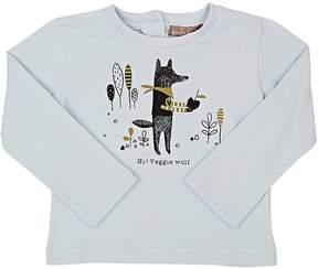 Emile et Ida Veggie Wolf-Print Cotton Long-Sleeve T-Shirt