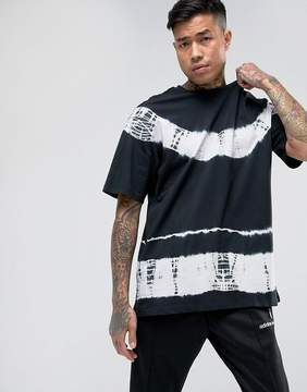 New Look T-Shirt With Tie Dye Print In Black