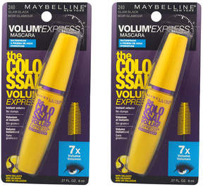 Maybelline Glam Black The Colossal Volum Express Waterproof Mascara - Set of Two