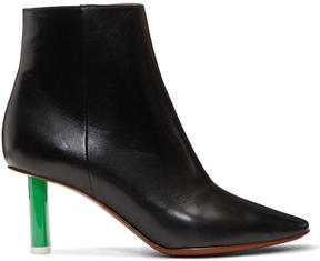 Vetements Black and Green Lighter Boots