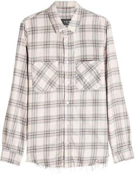 Amiri Distressed Plaid Shirt