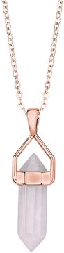 Footnotes Womens Pink Brass Pendant Necklace