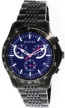 Gucci Men's G-Timeless YA126258 Black Stainless-Steel Swiss Quartz Fashion Watch