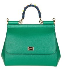 Dolce & Gabbana Dolce E Gabbana Women's Green Leather Handbag. - GREEN - STYLE