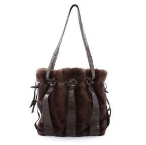 Nancy Gonzalez Brown Leather Handbag
