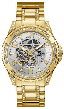 GUESS Gold-Tone and Black Automatic Watch