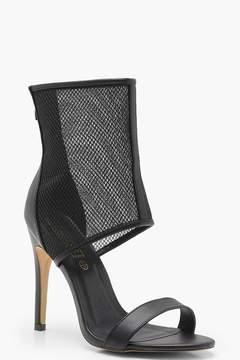 boohoo Mesh Upper Sandals