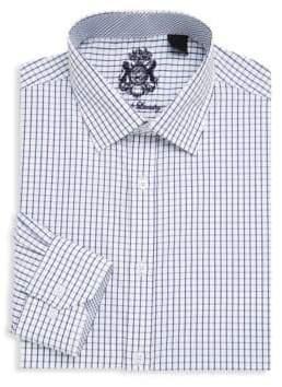 English Laundry Checkered Cotton Dress Shirt