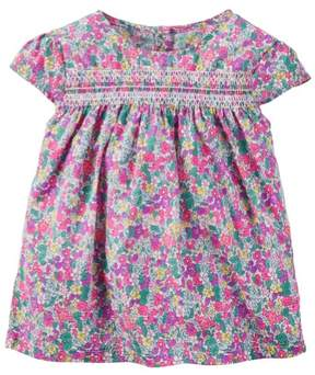 Carter's Toddler Clothing Outfit Little Girls Smocked Floral Top