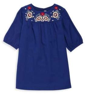 Bonpoint Little Girl's & Girl's Embroidered Long-Sleeve Dress