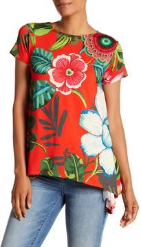 Desigual Emilio Floral Hi-Lo Shirt