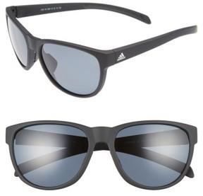 Women's Adidas Wildcharge 61Mm Polarized Sunglasses - Black Matte/ Grey Polar