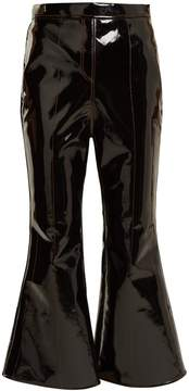Ellery Outlaw kick-flare cropped patent trousers