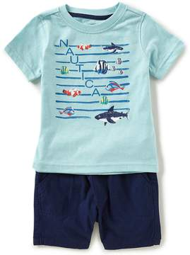 Nautica Baby Boys 12-24 Months Fish Short-Sleeve Tee & Shorts Set