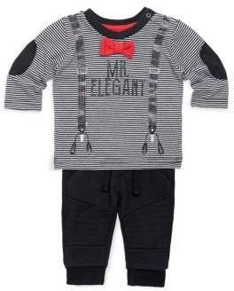 Petit Lem Baby Boy's Two-Piece Mr. Elegant Top & Pants Set