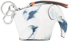 Loewe White/Blue Bleached Elephant Charm Bag