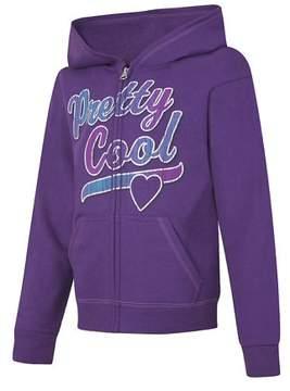 Hanes EcoSmart Girls' Pretty Cool Full-Zip Hoodie Sweatshirt OK270