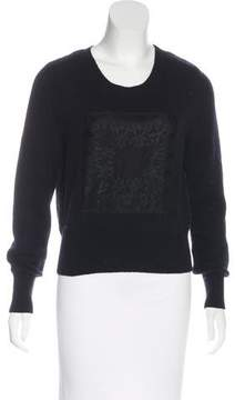 Christian Dior Cashmere Lace-Paneled Sweater