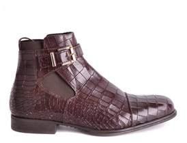 Cesare Paciotti Men's Brown Leather Ankle Boots.