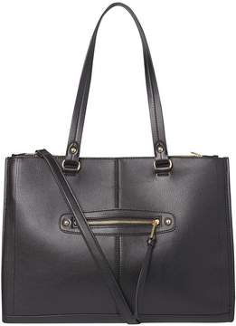 Black Oversized Zip Front Tote